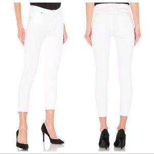 Agolde White Sophie High Rise Skinny Jeans